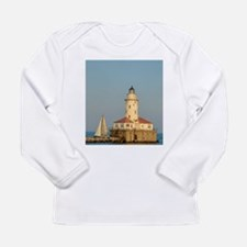 Chicago Harbor Lighthouse Long Sleeve T-Shirt