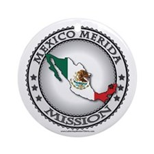Mexico Merida LDS Mission Flag Cutout 1 Ornament (