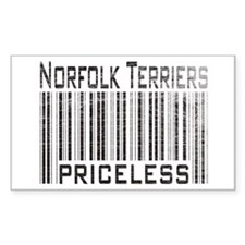 Norfolk Terriers Rectangle Decal