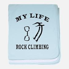 My Life Rock Climbing baby blanket