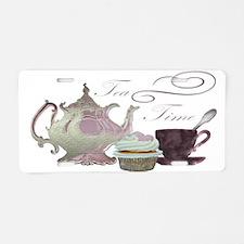 Tea Time Pink Teapot, Teacup and Cupcake Art Alumi