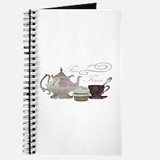 Tea Time Pink Teapot, Teacup and Cupcake Art Journ