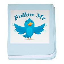 Twitte me on the street baby blanket