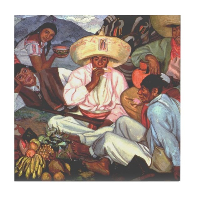 Zapatistas mexican revolution mural art tile by oshishop for Mural zapatista