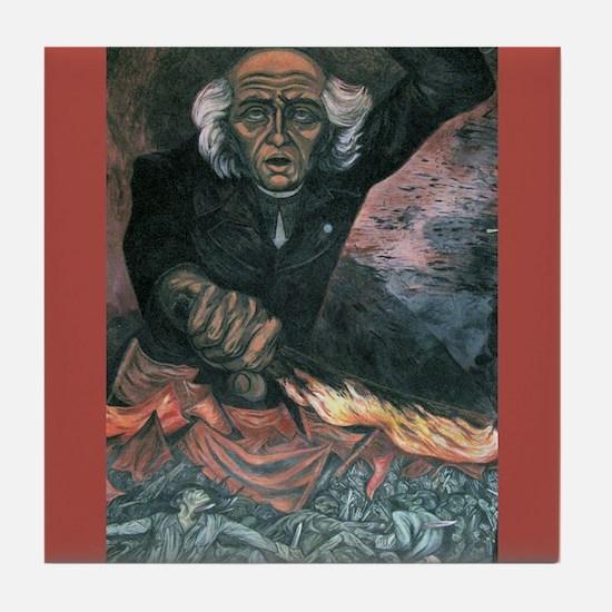 Hidalgo Mexican Revolution War Art Tile Coaster
