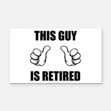 This Guy Is Retired Rectangle Car Magnet
