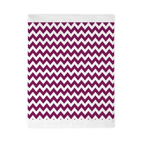 Purple and White Chevron Zigzag Pattern Twin Duvet