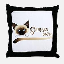 Siamese LOVE Throw Pillow