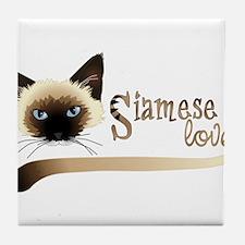 Siamese LOVE Tile Coaster