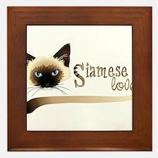 Siamese LOVE Framed Tile