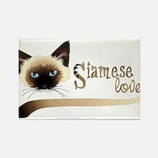Siamese LOVE Rectangle Magnet