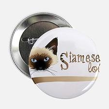 """Siamese LOVE 2.25"""" Button"""