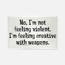 Feeling Violent. Rectangle Magnet