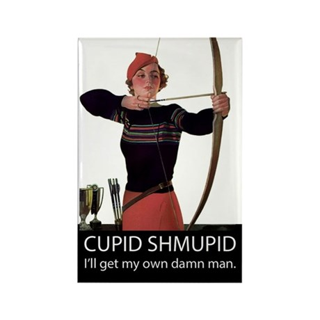 Cupid Shmupid Rectangle Magnet