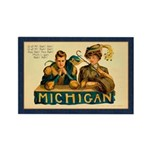 Antique Michigan Football Rectangle Magnet