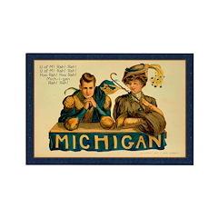 Antique Michigan Football Rectangle Magnet