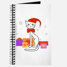 Santa cat in snow - Journal