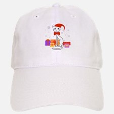 Santa cat in snow - Baseball Baseball Cap