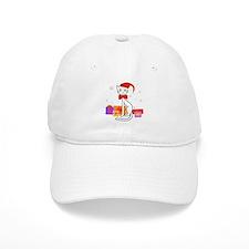 Santa cat in snow - Baseball Cap
