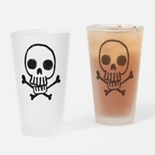 Cartoon Skull Drinking Glass