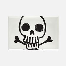 Cartoon Skull Rectangle Magnet