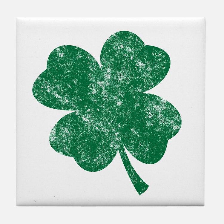St Patrick's Shamrock Tile Coaster