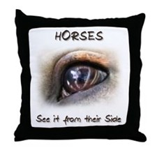 Horses Eye Throw Pillow