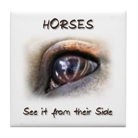 Horses Eye Tile Coaster