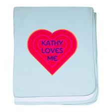 Kathy Loves Me baby blanket