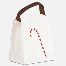 Candy Cane Canvas Lunch Bag