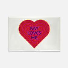 Kay Loves Me Rectangle Magnet