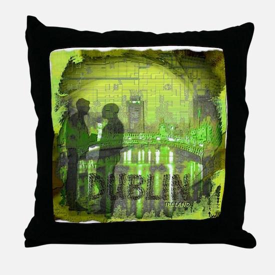 dublin ireland art illustration Throw Pillow