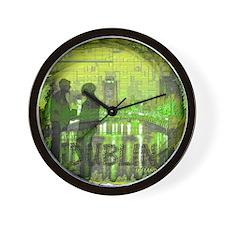dublin ireland art illustration Wall Clock