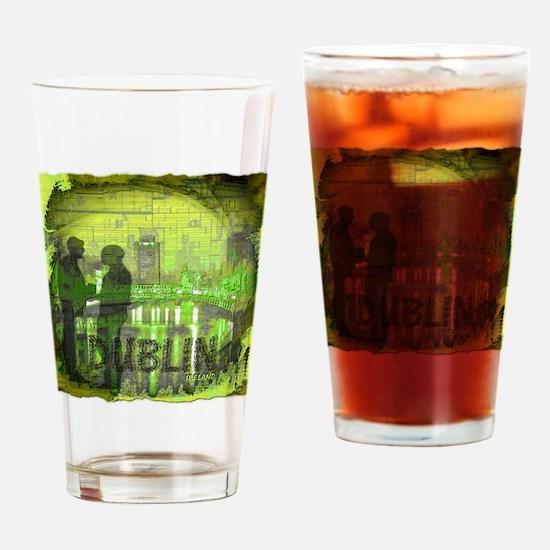 dublin ireland art illustration Drinking Glass