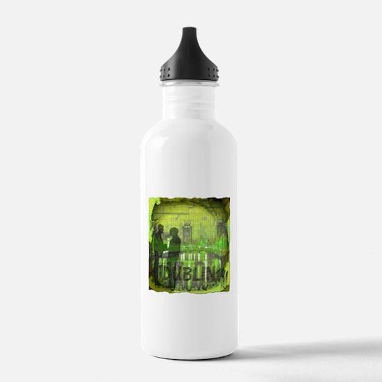dublin ireland art illustration Water Bottle