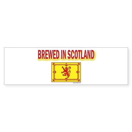 BREWED IN SCOTLAND Bumper Sticker