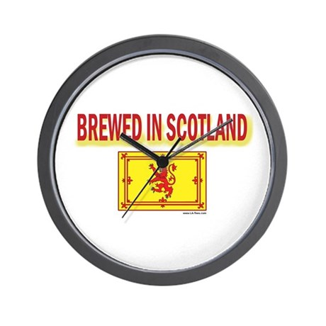 BREWED IN SCOTLAND Wall Clock