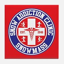 Snowmass Snow Addiction Clinic Tile Coaster