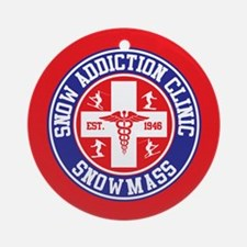 Snowmass Snow Addiction Clinic Ornament (Round)