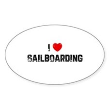 I * Sailboarding Oval Decal
