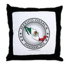 Mexico Oaxaca LDS Mission Flag Cutout Throw Pillow