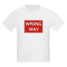 SIGN WRONG WAY - RED T-Shirt