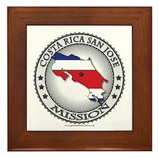 Costa Rica San Jose LDS Mission Flag Cutout Framed