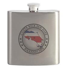 Costa Rica San Jose LDS Mission Flag Cutout Flask