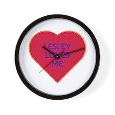 Lesley Loves Me Wall Clock