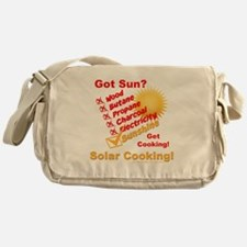 Got Sun? Solar Cooking Messenger Bag