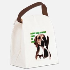 hunting hound Canvas Lunch Bag