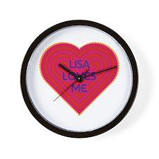 Lisa Loves Me Wall Clock