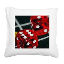 lucky seven Square Canvas Pillow