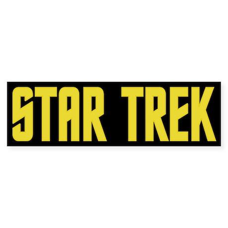 Star Trek Yellow Sticker (Bumper)